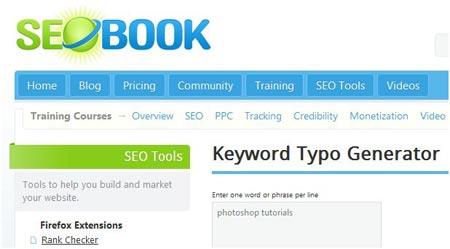 SEO Book Keyword Typo Generator