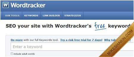 Wordtracker's Free Keywords Suggestion Tool