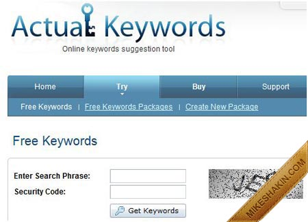 Actual Keywords Free Suggestion Tool