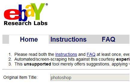 eBay Keyword Research Tool