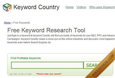 Keyword Country Free Keyword Research Tool